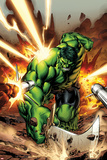 Incredible Hulks No615 Cover: Hulk Smashing