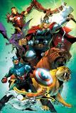 Avengers vs Pet Avengers No4 Cover: Captain America  Thor  Iron Man  Lockjaw  Zabu and Others