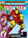 Marvel Comics Retro: The Invincible Iron Man Comic Book Cover No126  Suiting Up for Battle