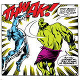 Marvel Comics Retro: The Incredible Hulk Comic Panel  Fighting  Thwak!