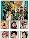 New X-Men: Academy X Yearbook Group: Pixie  Match  Trance  Wolf Cub  DJ  Preview and Paragons