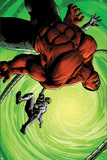 Hulk No45 Cover: Red Hulk and Machine Man Fighting