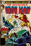 Marvel Comics Retro: The Invincible Iron Man Comic Book Cover No124  Action in Atlantic City