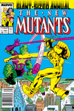 New Mutants Annual No3 Cover: Impossible Man and Warlock