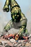 Iron Man: Titanium! No1 Cover: Iron Man and Titanium Man Fighting