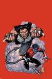 Wolverine No19 Cover: Wolverine and Nightcrawler Screaming