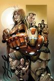 Invincible Iron Man No5001 Cover: Iron Man  Pepper Potts  and Virginia