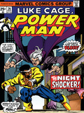 Marvel Comics Retro: Luke Cage  Hero for Hire Comic Book Cover No26  the Night Shocker!