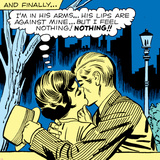 Marvel Comics Retro: Love Comic Panel  Kissing in the Park