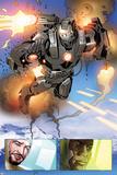Invincible Iron Man No513: Panels with War Machine and Iron Man