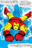 Marvel Comics Retro: The Invincible Iron Man Comic Panel  Swimming