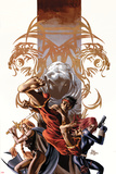 Secret Avengers No7 Cover: Shang-Chi  Valkyrie  Black Widow  and Moon Knight Posing