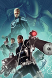 Secret Warriors No28 Cover: Nick Fury  Steve Rogers  and Dum Dugan Standing with Guns