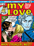 Marvel Comics Retro: My Love Comic Book Cover No20  Kissing  When Strangers meet!