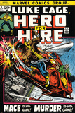 Marvel Comics Retro: Luke Cage  Hero for Hire Comic Book Cover No3  Mace in Helicopter