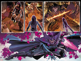 Uncanny X-Force No8: Panels with Psylocke and Telekinetic Katana