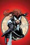 Spider-Island: The Amazing Spider-Girl No1 Cover: Spider-Girl Swinging and Shooting