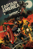 Captain America and Black Widow 640 Cover: Captain America  Black Widow  Ghost Rider  Black Knight