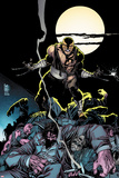 Daken: Dark Wolverine No7 Cover: Daken Under the Moon at Knight