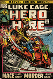 Marvel Comics Retro: Luke Cage  Hero for Hire Comic Book Cover No3  Mace in Helicopter (aged)