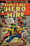 Marvel Comics Retro: Luke Cage  Hero for Hire Comic Book Cover No14  Fighting Big Ben (aged)