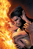 X-Men: The End No1 Cover: Wolverine and Phoenix Fighting