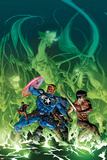 Secret Avengers No10 Cover: Steve Rogers  Shang-Chi  Ant-Man  and Beast Surrounded by Dragons