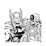 Avengers Assemble Inks Featuring Thor  Captain America