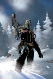 Uncanny X-Force No5: Deathlok Standing with a Gun in the Snow