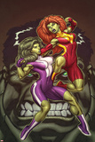 She-Hulks No1 Cover: She-Hulk and Lyra Fighting
