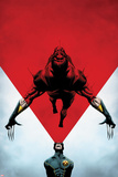 Wolverine No8 Cover: Cyclops Using his Optic Blast on Wolverine