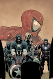 Ultimate Avengers vs New Ultimates No6 Cover: Captain America  Thor  Iron Man  and Nick Fury