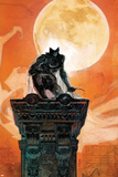 Moon Knight No4 Cover: Moon Knight Crouching on a Column