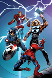 Ultimate Spider-Man No157 Cover: Spider-Man  Captain America  Thor  and Iron Man