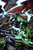 Incredible Hulks No622 Cover: Fighting and Smashing