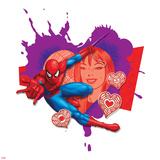Spider Sense Spider-Man: Valentine  Hearts  Spider-Man and Mary Jane Watson Posing