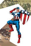 Captain America Corps No2 Cover: Captain America Standing in Salute