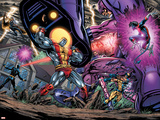 Exiles No69 Group: Colossus  Nightcrawler  Wolverine  Storm  Cyclops  Sentinel and X-Men