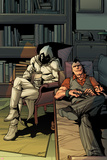Daken: Dark Wolverine No13 Cover: Daken and Moon Knight Sitting