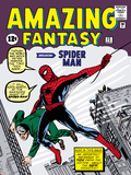 Marvel Comics Retro: Amazing Fantasy Comic Book Cover No15  Introducing Spider Man