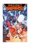 Marvel Secret Wars Cover  Featuring: Thor (Female)  Odin  Frog Thor  Thor Girl and More