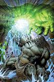Incredible Hulk No611 Cover: Skaar and Hulk Fighting and Smashing