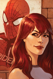 Web of Spider-Man No11 Cover: Mary Jane Watson in front of a Poster