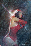 Marvel Knights Presents Cover  Featuring: Elektra