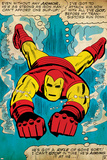 Marvel Comics Retro: The Invincible Iron Man Comic Panel  Swimming (aged)