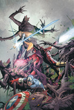 Uncanny X-Men No9 Cover: Captain America  Magneto  Iron Man  and Magik