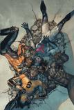 Avengers 14 Cover: Sunspot  Cannonball  Wolverine  Smasher