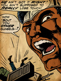 Marvel Comics Retro: Luke Cage  Hero for Hire Comic Panel (aged)