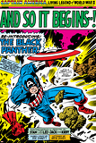 Marvel Comics Retro: Captain America Comic Panel  And So It Begins!