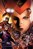 Avengers: The Childrens Crusade No6 Cover: Scarlet Witch  Hawkeye  Beast  Spider-Man  and Others